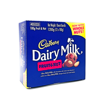 Cadbury Fruit & Nut 100g