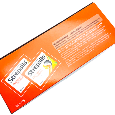 Strepsils Orange With Vitamin C 6's