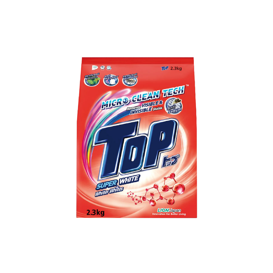 Top Detergent Powder Super White 2.3KG