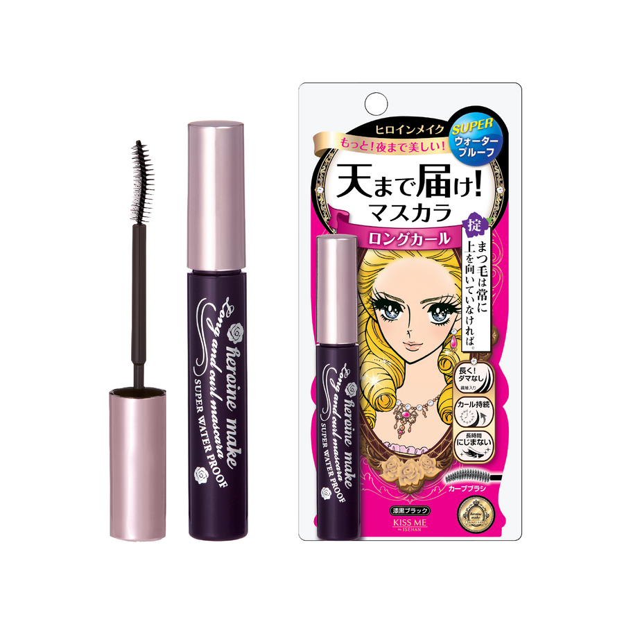 Kiss Me Heroine Make Long & Curl Mascara Super Waterproof (01 Deep Black)