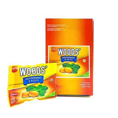 Woods' Peppermint Lozenger Orange 15g
