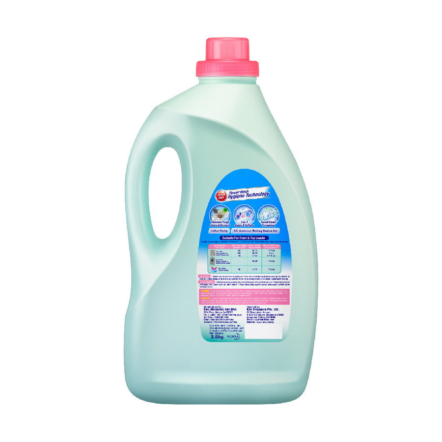 Attack Liquid Detergent Plus Softener (Sweet Floral) )3.6KG