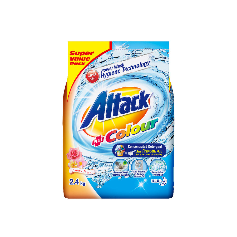 Attack Powder Detergent Colour 2.4KG