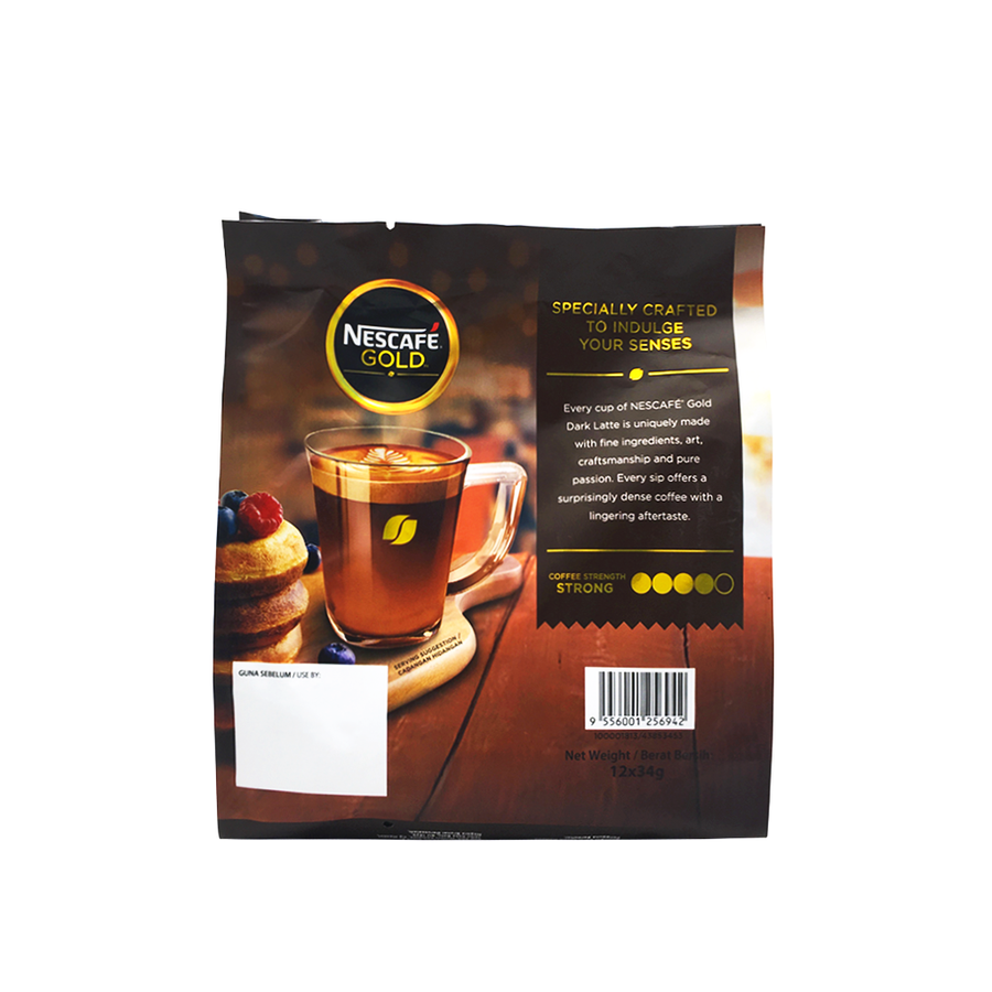 Nescafe Gold Dark Latte 12's x 34G