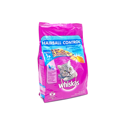 Whiskas Chicken & Tuna Hairball Control 1.1Kg