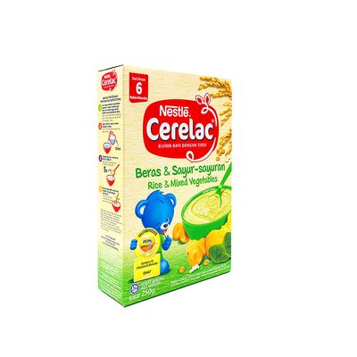 Cerelac BL FE Rice Mix Veg 250G