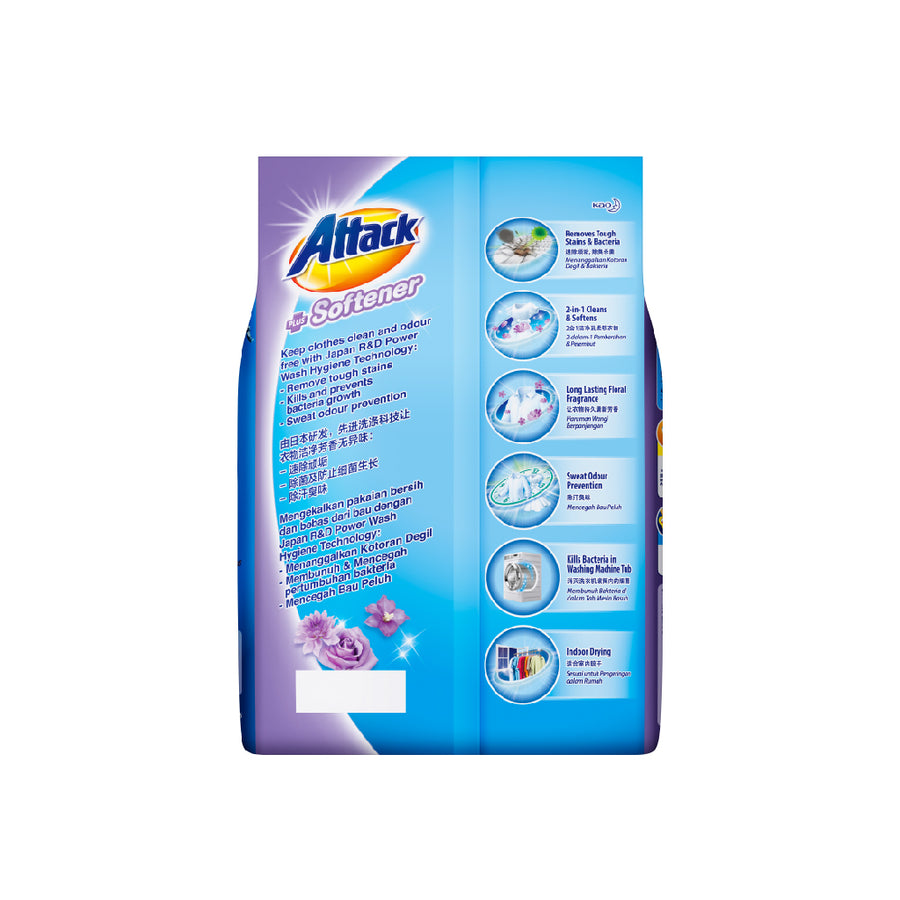 Attack Powder Detergent Plus Softener (Floral Romance) 2.2KG