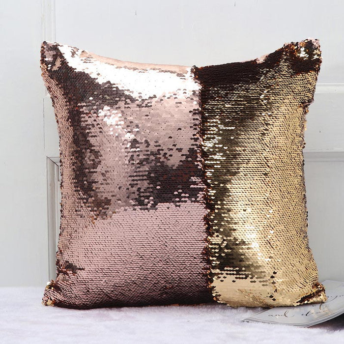 Meijuner Mermaid Sequins Reversible Cushion - pillowboss
