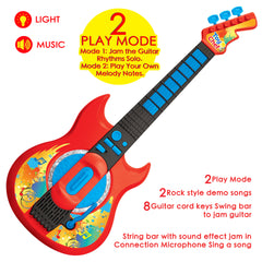 Pretend Play Guitar with Musical Instruments