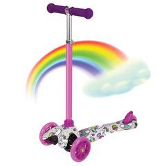 Unicorn Printed kick Scooter With Led lights