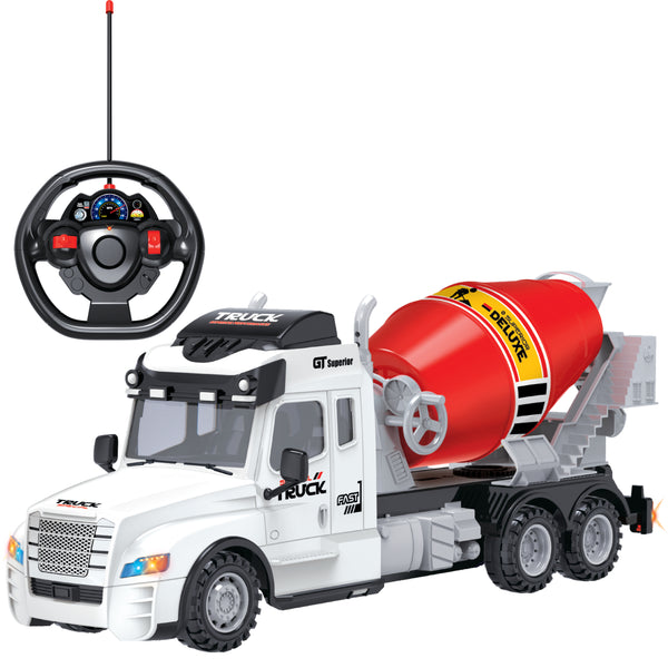 Full Function Remote Control  Cement Truck RC Toy with Lights