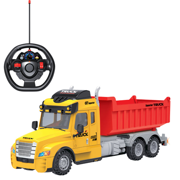 Full Function Remote Control Dump Truck with Lights
