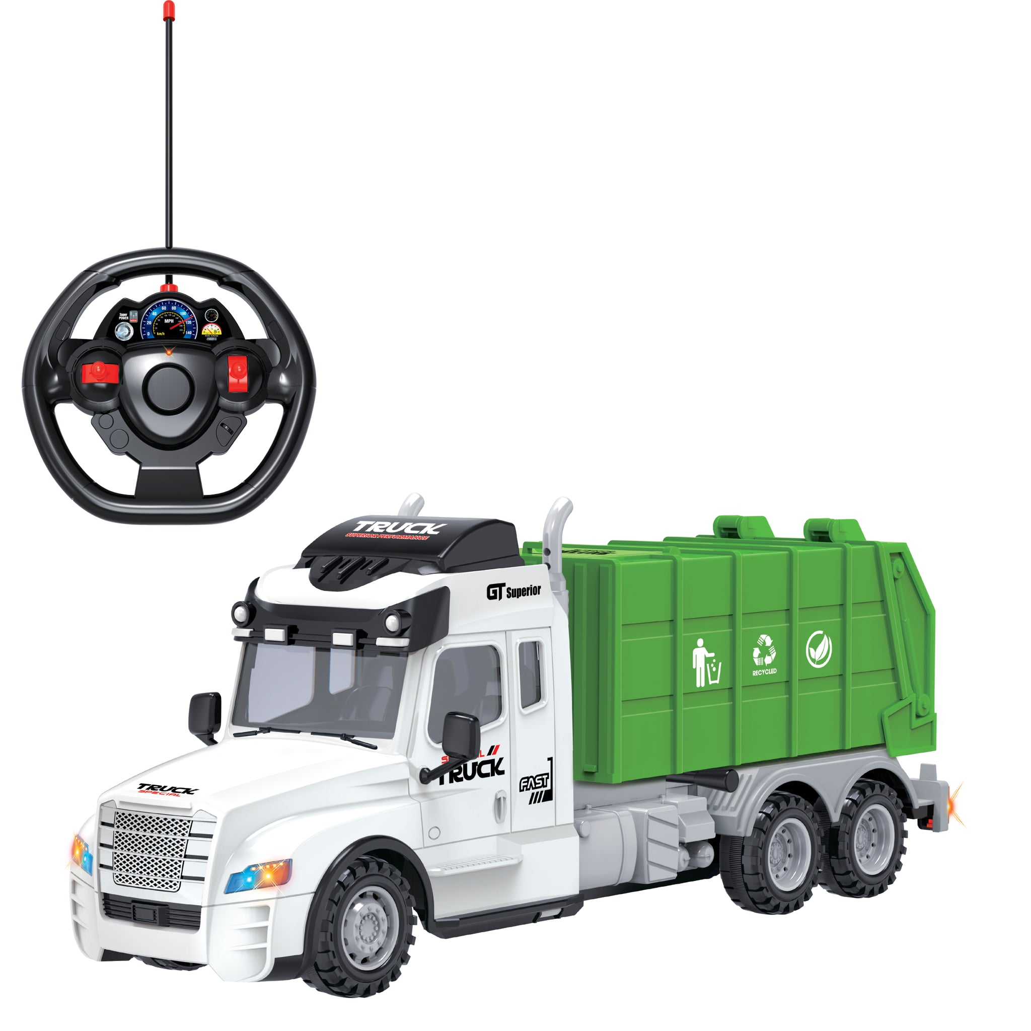 Full Function Remote Control Garbage  Truck with Lights