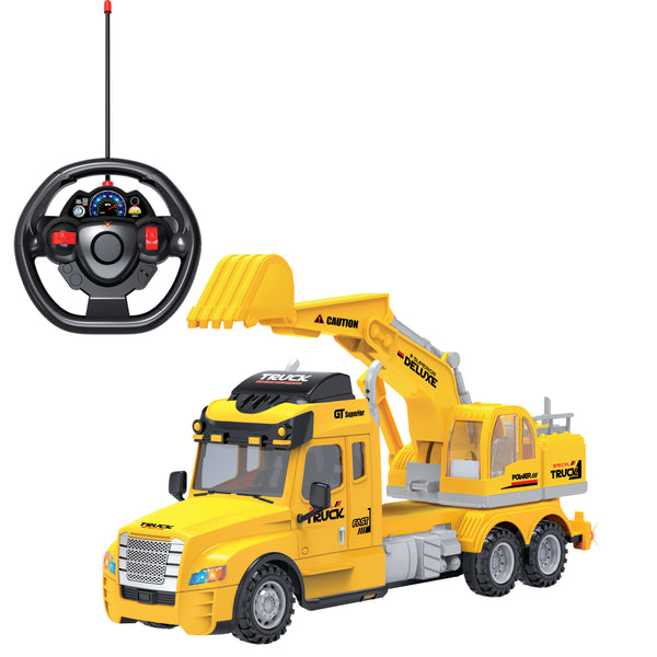 Full Function Remote Control Excavator Truck with Lights