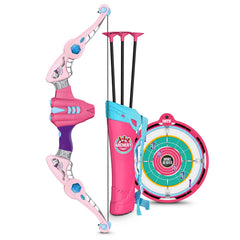 Children's Archery Toy with Bow, Arrow, and Target