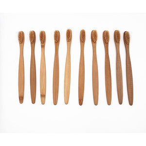 10 Pieces Bamboo Toothbrush