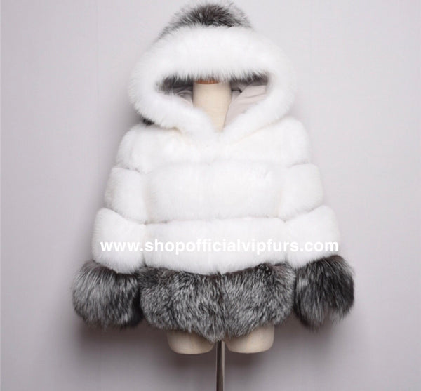 "Hooded ""Snow White"" Coat"