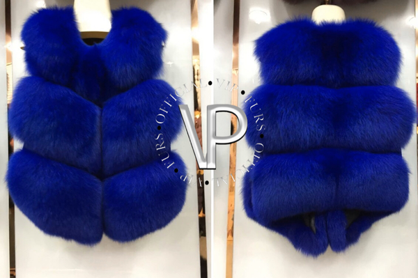 3 Row Fox Fur Vest