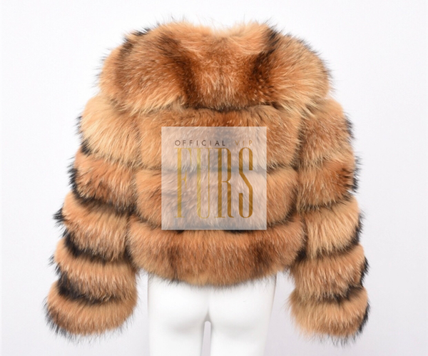 Natural Raccoon Fur Coat