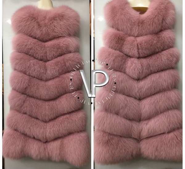 7 Row Fox Fur Vest