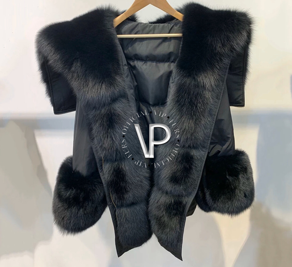 Black Fox Fur Parka