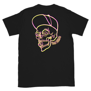 Neon Skull and Coin Short-Sleeve Unisex T-Shirt