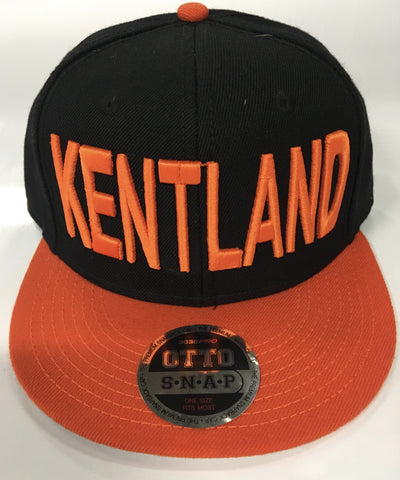 HAT KENTLAND-OTTO Flat Bill orange and Black Cap