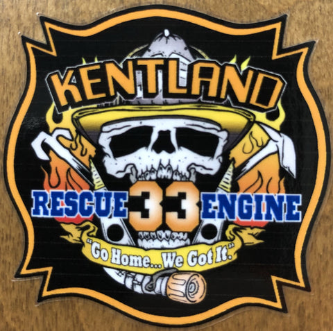 Limited Edition Rescue Engine 33 sticker