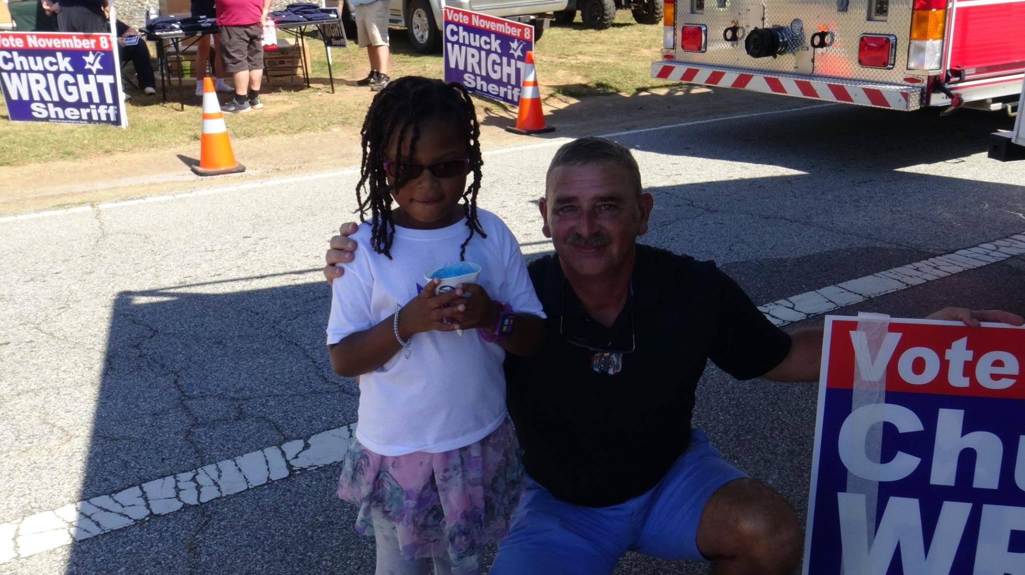 Kayla meet Sheriff Churck Wright at the Harvest Festival