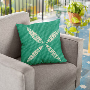 Teal/Ivory hawaiian inspired kapua kai square pillowcase