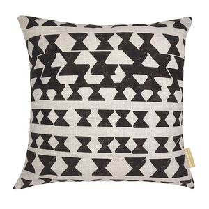 Black/Beige hawaiian inspired kapili square pillowcase