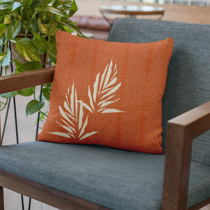 Orange hawaiian inspired kanu square pillowcase