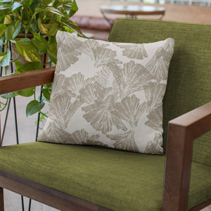 Taupe/Ivory hawaiian inspired nahenahe square pillowcase