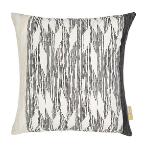 Black/Ivory hawaiian inspired pili square pillowcase