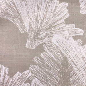 Taupe/Ivory hawaiian inspired nahenahe lumbar pillowcase closeup
