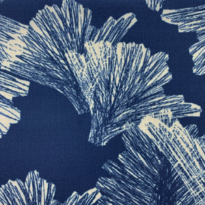 Ivory/Navy hawaiian inspired nahenahe square pillowcase closeup