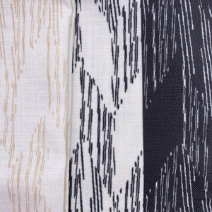 Black/Ivory hawaiian inspired pili square pillowcase closeup