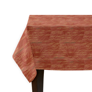 red loulu tablecloth corner