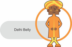 Delhi Belly cartoon illustration