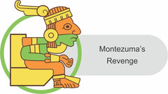 Montezuma's revenge cartoon illustration