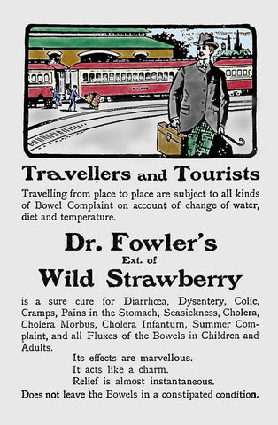 Archival ad for Dr. Fowler`s Extract of Strawberry