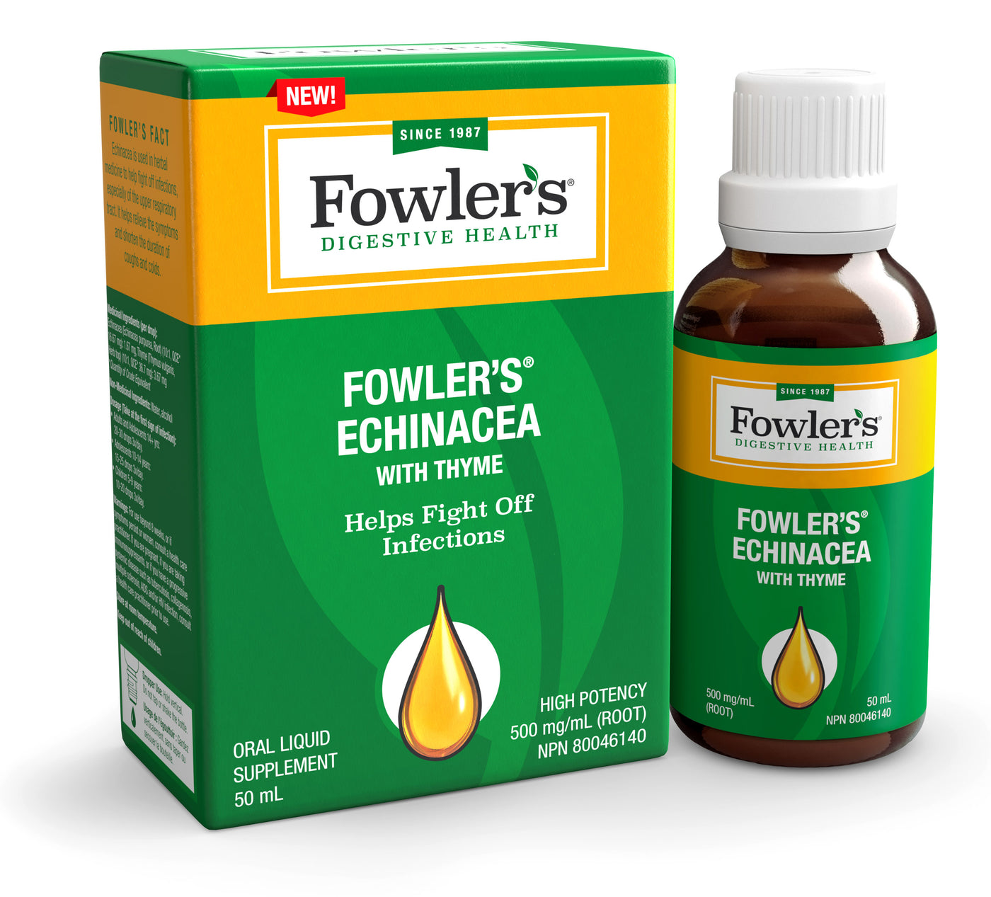 Fowler's Echinacea with Thyme (Extra-Strength 500 mg/mL)<br><b>Special Sale: $12.95*</b>