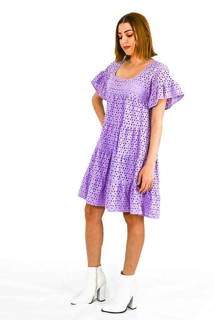 BROIDERIE ANGLAISE DRESS