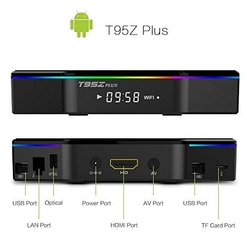 T95Z Plus 3G/32G Android Smart TV Box + Wireless Keyboard Bundle |Plug &  Play| 7 1 2 OS| IPTV
