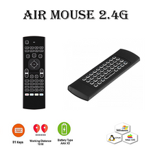 Air Mouse 2.4G, Motion Sensing (White Backlit)