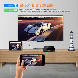 CASTING USING X10 MAX 4G + 64G ANDROID SMART TV BOX, 9.0 OS