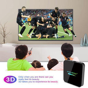 WATCH ALL SHOWS IN 3D WHEN USING THE X10 MAX 4G+64G ANDROID SMART TV BOX, 9.0 O/S | IPTV