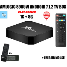 X96 MINI 1G+8G ANDROID SMART TV BOX, 7.1.2 O/S WITH AIR MOUSE