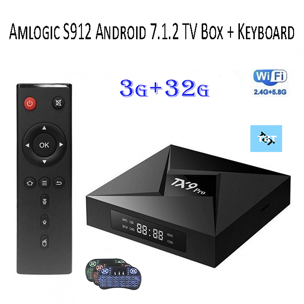 TX9 Pro 3G/32G Android Smart TV Box + Wireless Keyboard Bundle | Plug and  Play | 7 1 2 OS