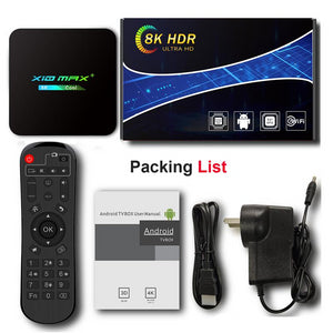 X10 Max 4G+64G Smart Android TV Box, 9.0 O/S | IPTV